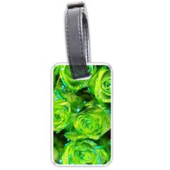 Festive Green Glitter Roses Valentine Love  Luggage Tags (One Side)