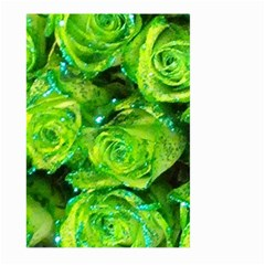 Festive Green Glitter Roses Valentine Love  Large Garden Flag (Two Sides)