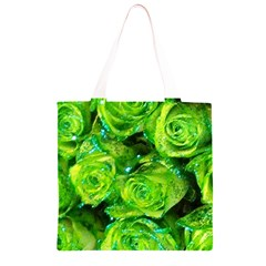 Festive Green Glitter Roses Valentine Love  Grocery Light Tote Bag
