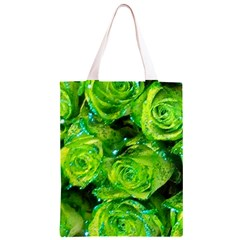 Festive Green Glitter Roses Valentine Love  Classic Light Tote Bag