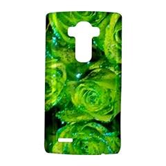 Festive Green Glitter Roses Valentine Love  Lg G4 Hardshell Case