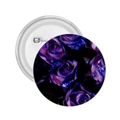 Purple Glitter Roses Valentine Love 2 25  Buttons
