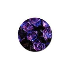 Purple Glitter Roses Valentine Love Golf Ball Marker (4 pack)
