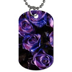 Purple Glitter Roses Valentine Love Dog Tag (Two Sides)
