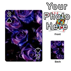 Purple Glitter Roses Valentine Love Playing Cards 54 Designs