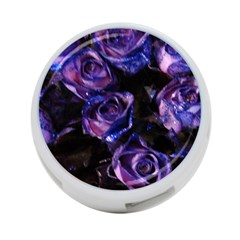 Purple Glitter Roses Valentine Love 4-Port USB Hub (One Side)