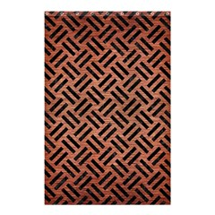 Woven2 Black Marble & Copper Brushed Metal (r) Shower Curtain 48  X 72  (small)