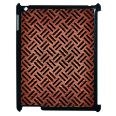 Woven2 Black Marble & Copper Brushed Metal (r) Apple Ipad 2 Case (black)