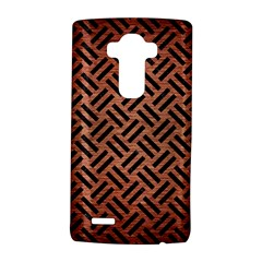 Woven2 Black Marble & Copper Brushed Metal (r) Lg G4 Hardshell Case