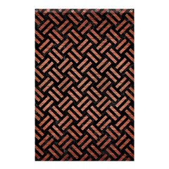Woven2 Black Marble & Copper Brushed Metal Shower Curtain 48  X 72  (small)