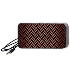 Woven2 Black Marble & Copper Brushed Metal Portable Speaker (black)
