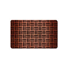 Woven1 Black Marble & Copper Brushed Metal (r) Magnet (name Card)