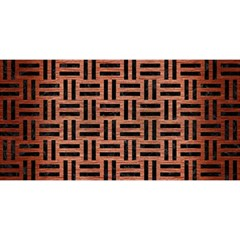 Woven1 Black Marble & Copper Brushed Metal (r) You Are Invited 3d Greeting Card (8x4)