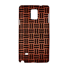 Woven1 Black Marble & Copper Brushed Metal (r) Samsung Galaxy Note 4 Hardshell Case