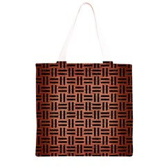WOV1 BK MARBLE COPPER (R) Grocery Light Tote Bag