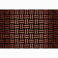 Woven1 Black Marble & Copper Brushed Metal Collage 12  X 18
