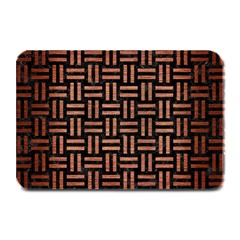 Woven1 Black Marble & Copper Brushed Metal Plate Mat