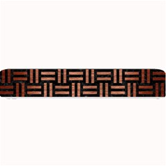 Woven1 Black Marble & Copper Brushed Metal Small Bar Mat