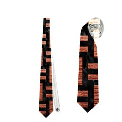 Woven1 Black Marble & Copper Brushed Metal Necktie (one Side)