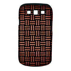 Woven1 Black Marble & Copper Brushed Metal Samsung Galaxy S Iii Classic Hardshell Case (pc+silicone)