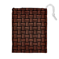 WOV1 BK MARBLE COPPER Drawstring Pouches (Extra Large)