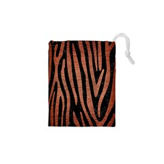 Skin4 Black Marble & Copper Brushed Metal (r) Drawstring Pouch (xs)