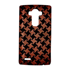 Houndstooth2 Black Marble & Copper Brushed Metal Lg G4 Hardshell Case