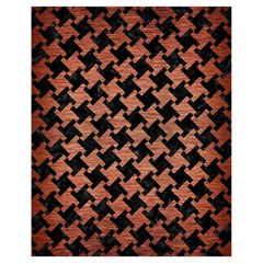 Houndstooth2 Black Marble & Copper Brushed Metal Drawstring Bag (small)