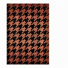 Houndstooth1 Black Marble & Copper Brushed Metal Small Garden Flag (two Sides)