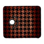 HOUNDSTOOTH1 BLACK MARBLE & COPPER BRUSHED METAL Samsung Galaxy S  III Flip 360 Case Front