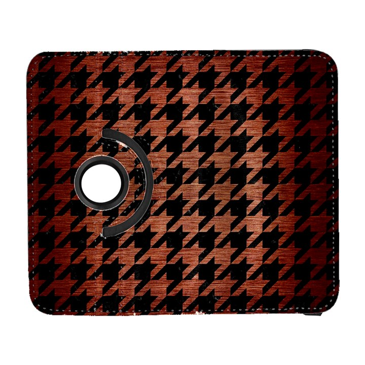 HOUNDSTOOTH1 BLACK MARBLE & COPPER BRUSHED METAL Samsung Galaxy S  III Flip 360 Case