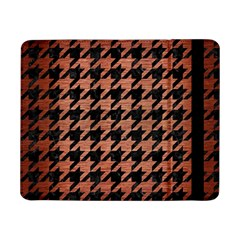 Houndstooth1 Black Marble & Copper Brushed Metal Samsung Galaxy Tab Pro 8 4  Flip Case