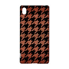 Houndstooth1 Black Marble & Copper Brushed Metal Sony Xperia Z3+ Hardshell Case
