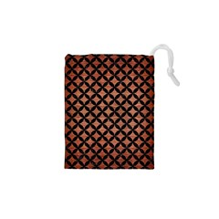 CIR3 BK MARBLE COPPER (R) Drawstring Pouches (XS)