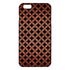 Circles3 Black Marble & Copper Brushed Metal Iphone 6 Plus/6s Plus Tpu Case