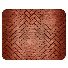 Brick2 Black Marble & Copper Brushed Metal (r) Double Sided Flano Blanket (medium)