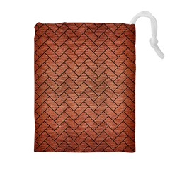BRK2 BK MARBLE COPPER (R) Drawstring Pouches (Extra Large)