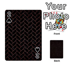 Brick2 Black Marble & Copper Brushed Metal Playing Cards 54 Designs