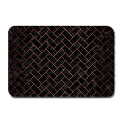 Brick2 Black Marble & Copper Brushed Metal Plate Mat