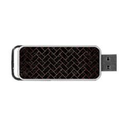 Brick2 Black Marble & Copper Brushed Metal Portable Usb Flash (one Side)