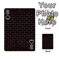 Brick1 Black Marble & Copper Brushed Metal Playing Cards 54 Designs