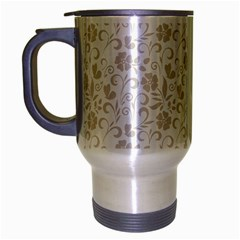 Elegant seamless Floral Ornaments Pattern Travel Mug (Silver Gray)