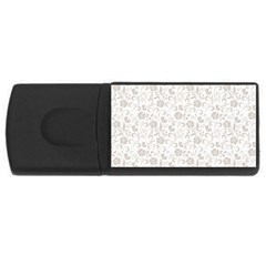 Elegant seamless Floral Ornaments Pattern USB Flash Drive Rectangular (4 GB)