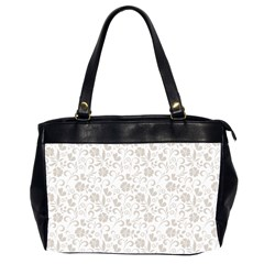 Elegant seamless Floral Ornaments Pattern Office Handbags (2 Sides)