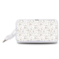 Elegant seamless Floral Ornaments Pattern Portable Speaker (White)