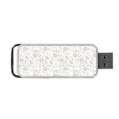 Elegant seamless Floral Ornaments Pattern Portable USB Flash (Two Sides)