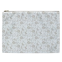 Elegant seamless Floral Ornaments Pattern Cosmetic Bag (XXL)