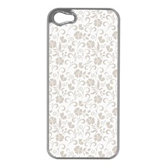 Elegant seamless Floral Ornaments Pattern Apple iPhone 5 Case (Silver)