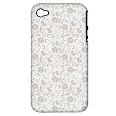 Elegant seamless Floral Ornaments Pattern Apple iPhone 4/4S Hardshell Case (PC+Silicone)