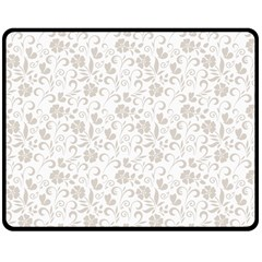 Elegant seamless Floral Ornaments Pattern Double Sided Fleece Blanket (Medium)